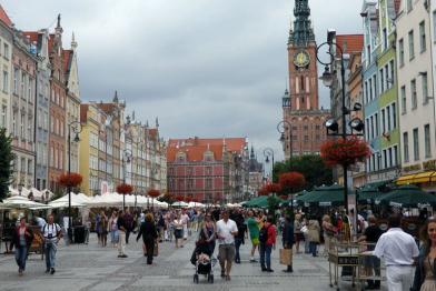 Stare Miasto w Gdańsku z Drogą Królewską